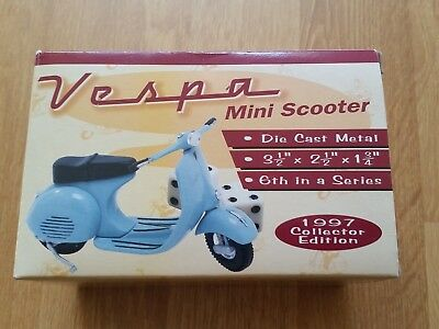 Vespa Mini Scooter - die cast metal, Zonex collectors edition, blue, rare