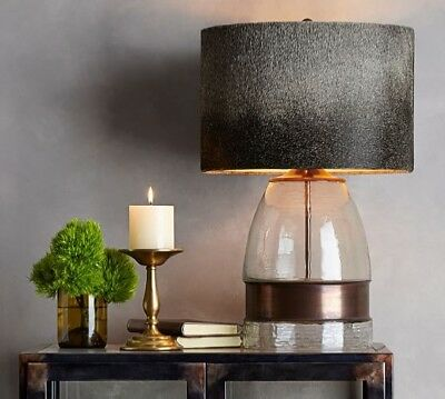 Pottery Barn Bailey Blown Glass Table Lamp 107 50 Picclick