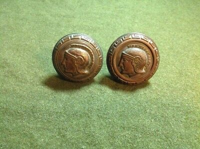 Greek Soldier Brass/Bronze Doorknobs Old Vtg Antique