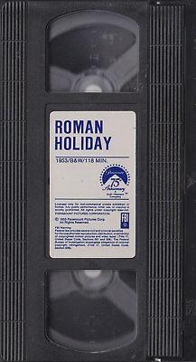 Roman Holiday - Gregory Peck, Audrey Hepburn (VHS) Generic Box