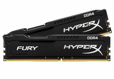 Kingston HyperX FURY 16GB (2x8GB) 2666MHz DDR4 Gaming Desktop Memory Kit Black