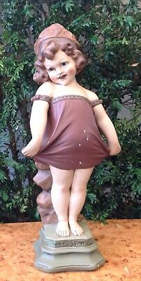 """SHY GIRL statue 1910s  plaster TRIACA  made In MELBOURNE  """"MY FIRST CAM """" large"""