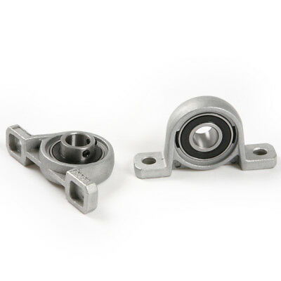 2pcs Pillow Block Bore 8/10/12/20mm Inner Diameter Znc Alloy Metal Ball Bearing