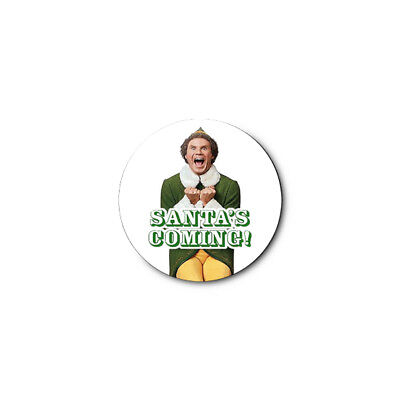 Buddy Elf (Santa Christmas) 1.25in Pins Buttons Badge *BUY 2, GET 1 FREE*