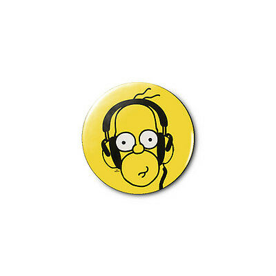 Homer Simpson 1.25in Pins Buttons Badge *BUY 2, GET 1 FREE*
