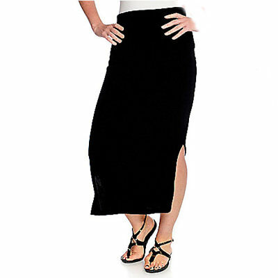 65bbb95426 Affinity for Knits Women's Stretch Knit Elastic Waist Maxi Skirt in Black -  M