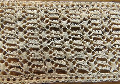 """Antique Lace Trim Vintage Insertion Edging Cream 36"""" x 1 3/8"""" sewing crafts lacy"""