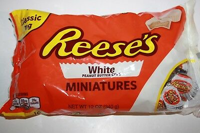 Reese's White Chocolate Peanut Butter Cups Miniatures 340g Bag