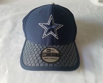 Dallas Cowboys New Era 39THIRTY 2017 NFL Sideline On Field Cap Flex Hat  Stretch 091060eb4
