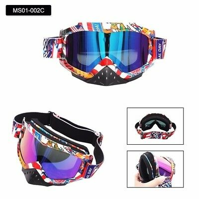 Motorcycle Motocross Goggles With Nose Guard Protection Eyewear Glasses Adjust