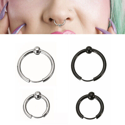 Surgical Steel Ring Hoop Ball Septum Nose Lip Ear Tragus Helix Piercing small
