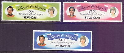 St. Vincent  1981  Royal Wedding (3), MNH.