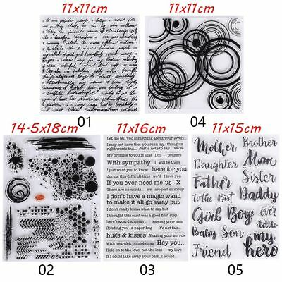 English Words Transparent Silicone Stamp/Seal for DIY Scrapbookings Photo Decor