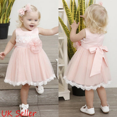 Toddler Baby Flower Girl Princess Party Dress Pageant Wedding Tulle Tutu Dresses