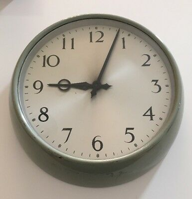 Vintage Synchronome Wall Clock Sweep 240v Very Rare Retro School Office etc