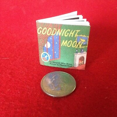 """1:6 scale Handmade mini for 11""""-12"""" size dolls - The Goodnight Moon w/real pages"""