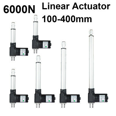 100-400mm 6000N Linear Actuator Motor Heavy Duty Bracket Lift 12V Door Opener