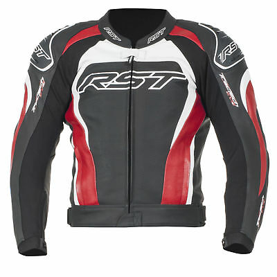 RST Tractech Evo 2 II Leather Motorbike Motorcycle Jacket 1425 Red