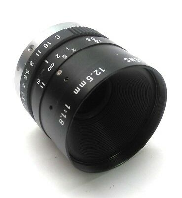 Pentax C21228KP Machine Vision Camera Lens 12.5mm Focal Length F1.8-C C-Mount