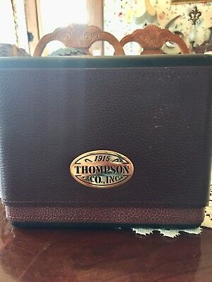 1915 Thompson And Company , Inc. Cedar Lined Two Toned Leather Cigar Case