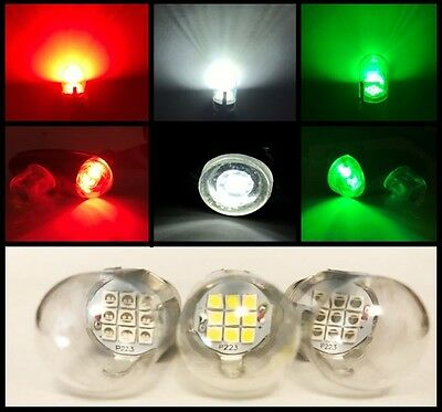 1512 Aircraft LED Replacement Nav Light Bulb SET 10-30VDC