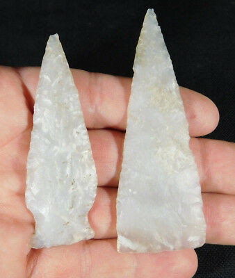 A Cache Of TWO! 100% Authentic Pre-Columbian ATLATL Points From Belize 27.4gr