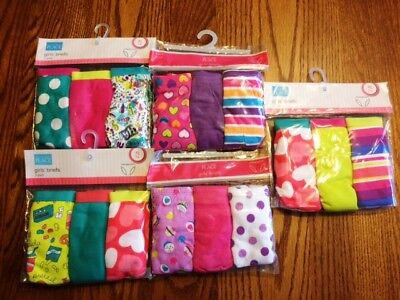 THE CHILDRENS PLACE TCP Girls 3 Pack Cotton PANTIES Sz 14 (Assorted Prints) NIP
