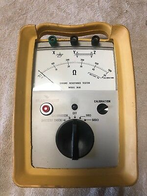 Aemc Ground Resistance Tester Model 3610 Used