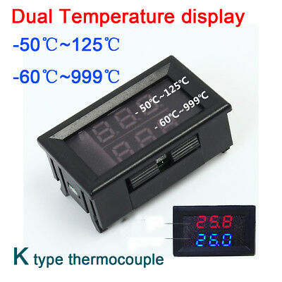 -60℃+999℃ K-type Thermocouple Dual thermometer display digital led temperature