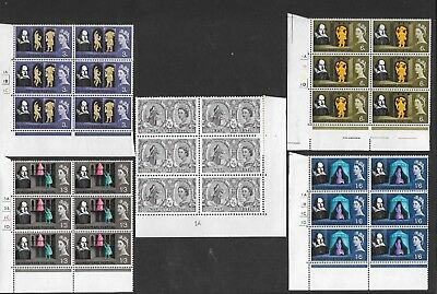 1964 Shakespeare (Ordinary) Cylinder Blocks Fine Um Mnh