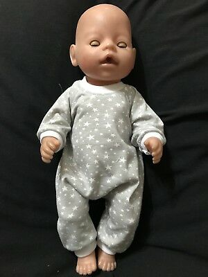 Dolls clothes made to fit Baby Born Doll (42cm) - All In One Set Size Medium