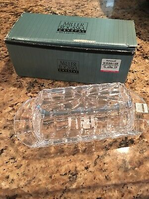 reed and barton crystal covered butter dish