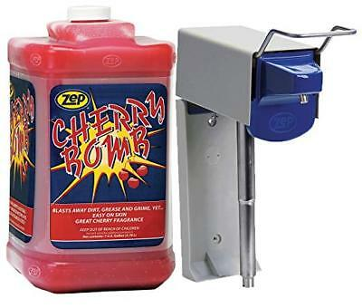 Zep 6001001 Soap Dispenser D4000 w/ 1 Gallon 95124 Cherry Bomb Hand Cleaner