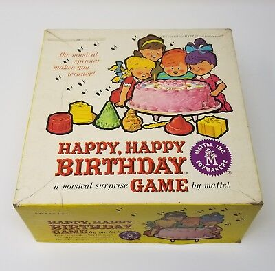 RARE Vintage 1963 Happy Happy Birthday Game by Mattel Not Complete