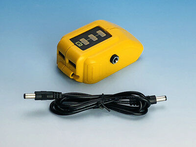 Replacement Dewalt DCB091 12V DC Power Source and Adapter w/ cable US seller