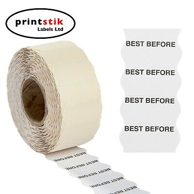 Best Before Price Gun Labels 26x12mm CT4 Various Quantities Lynx Puma Motex