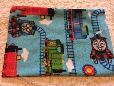 Thomas The Train Boys Blue Red Fleece Small Pillowcase Cover Handmade