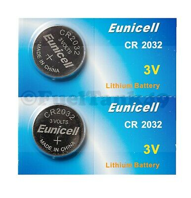 2x Eunicell CR2032 DL2032 5004LC CR 2032 Lithium Batteries Button Cells 3V