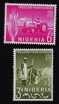"Nigeria  Scott# 141-142 Mnh  Fao ""freedom From Hunger"""