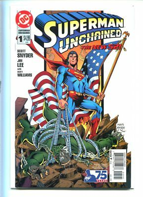 Superman Unchained #1 New 52 Nm 9.4 Glossy Patriotic Cover