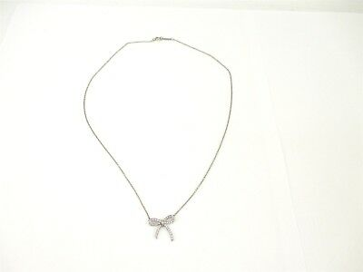 583390ed593f Tiffany   Co. Bow Collection 950 Platinum With .27tcw Diamonds Pendant  Necklace