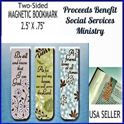 Christian Magnetic Bookmarks Be Still and Know & Other Bible Verses Set of 3