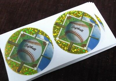 lot of 20 blue hat baseball mylar inserts trophy parts gold cup by Freeman