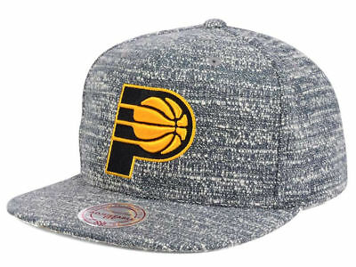 the best attitude 2b960 692ab Indiana Pacers Mitchell   Ness NBA Heather Gray Snapback Hat Cap