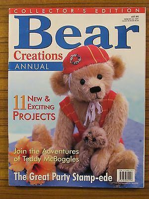 Bear Creations - Volume 3 No.2 Annual Monkey Paper Bear Folk Art Stamping 1998
