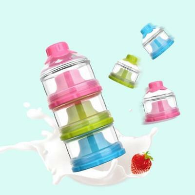 4 Layer Milk Powder Case Formula Dispenser Kids Baby Feeding Travel Container DT