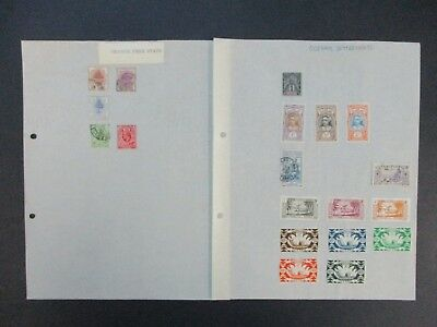 ESTATE: World Selection on pages (Orange Free State..) excellent item (2888)