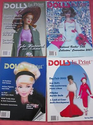 4 Doll Magazines,dolls In Print Dolls Magazines,premier Issue,spring,fall Summer