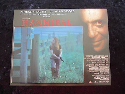 HANNIBAL lobby card # 8 ANTHONY HOPKINS, JULIANNE MOORE, SILENCE OF THE LAMBS
