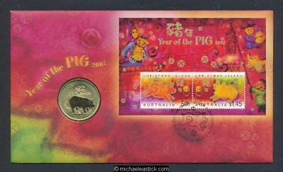 2007 Christmas Island Year Of The Pig PNC
